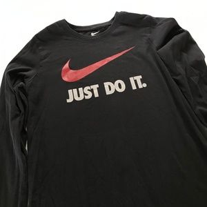 """Nike """"Just Do It"""" with Swoosh black long sleeve"""